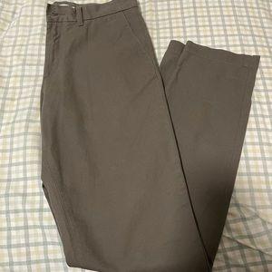 Navy Green Men Slim Fit Pants
